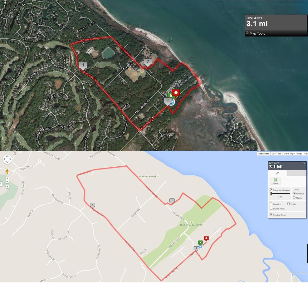 Race Map Hilton Head 5k 10k Run Sandalwood Run For Hunger